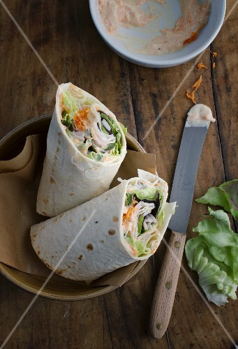 Turkey breast wraps