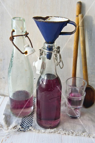 Homemade violet syrup