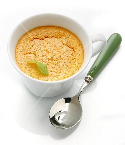 Pumpkin pudding with cinnamon in a cup
