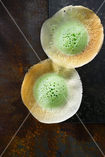 Appams (green rice flour pancakes, Indonesia)