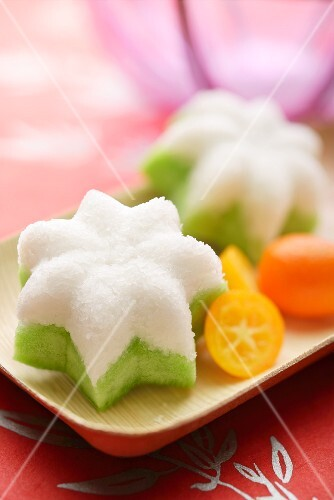 Putu Ayu (steamed sticky rice cakes, Indonesia) with coconut