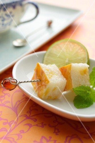 Wingko Babat (rice cakes with dried prawns, Indonesia)