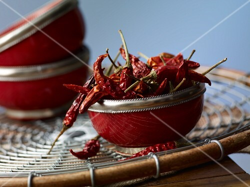 Bowl of Dried New Mexico Chili Peppers