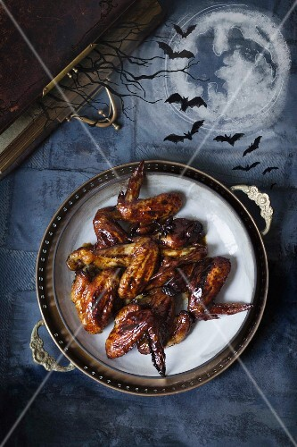Sticky bats wings for Halloween