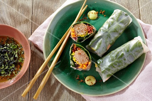 Tuna fish spring rolls