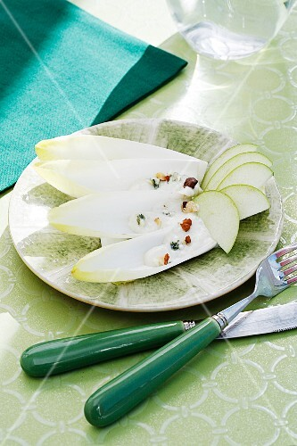 Chicory salad with apple and a Roquefort dressing