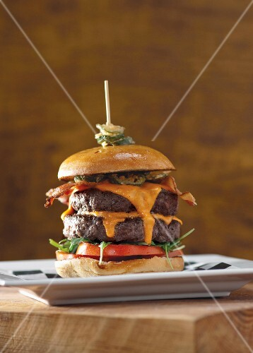 A double bacon cheeseburger