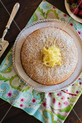 Lemon yoghurt cake (seen above)