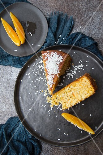Orange cake with carrots and coconut