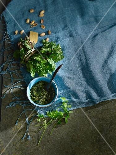 Parsley and mint pesto