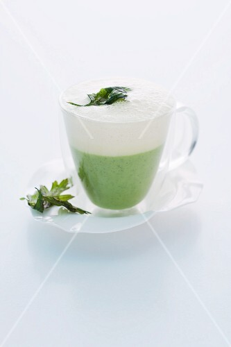 Parsley root cappuccino