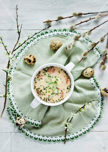 Horseradish soup (traditional Easter soup from Poland)