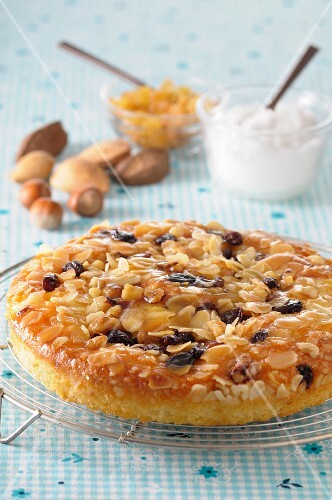 Fruit cake with nuts