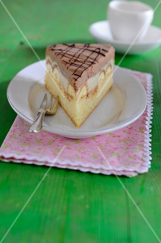 A slice of banana cake