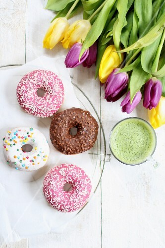 Doughnuts and tulips
