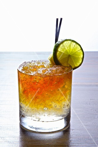 Southern Mule (a cocktail made with Southern comfort liqueur)