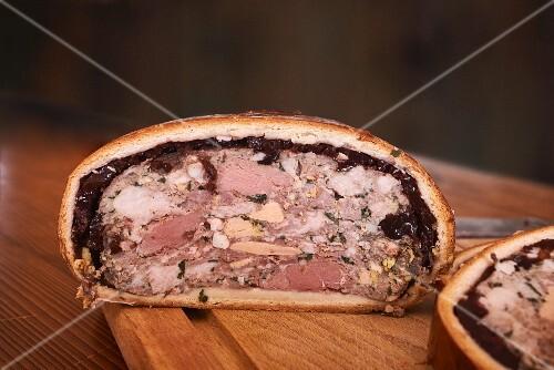 Foie gras baked in bread