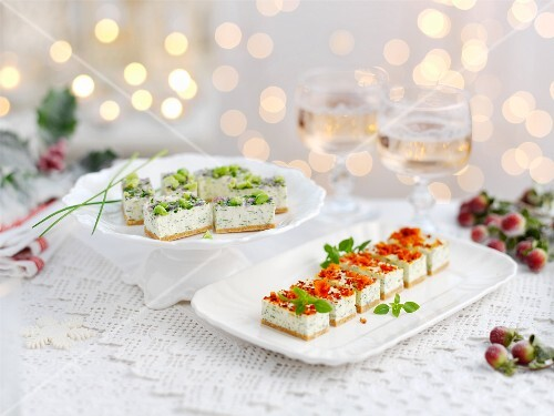 Vegetable canapes for Christmas