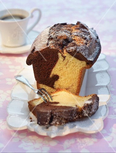 Marble cake with rum