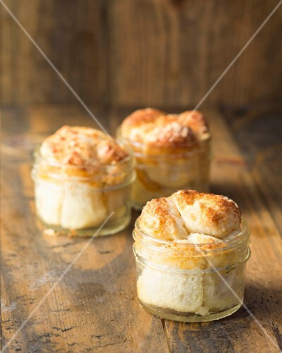 Savoury pull apart bread baked in jars
