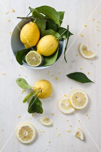 Arrangement of lemons (seen from above)