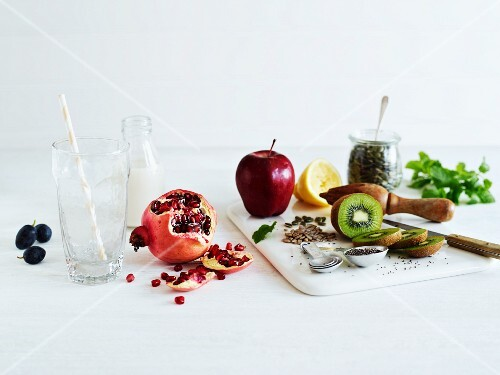 Healthy nuts, seeds and fruit