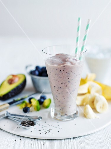 A nutrient rich smoothie with avocado and banana
