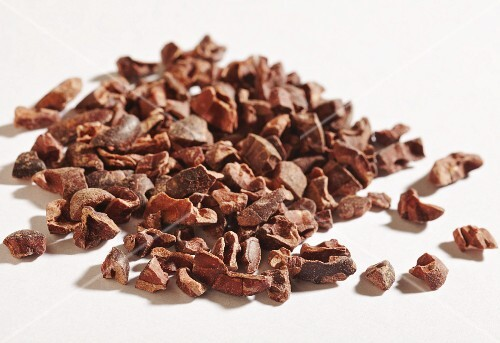 A pile of cocoa nibs
