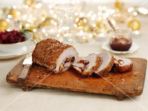 Stuffed pork roulade for Christmas dinner