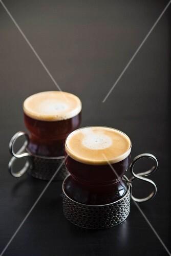 Coffee in Turkish coffee cups
