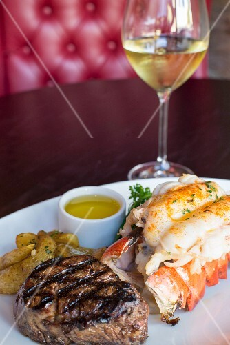 Surf& Turf with fillet mignon and lobster