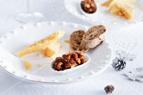 Cheese with date salsa for Christmas