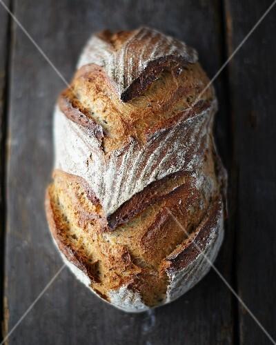 A loaf of artisan sourdough bread