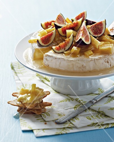 Camembert with preserved ginger and figs