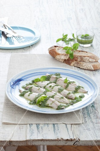 Sgombro al pesto (mackerel with pesto, Italy)