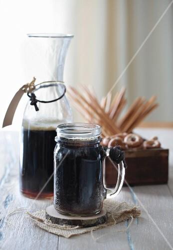 Dark Kvass (Russian drink)