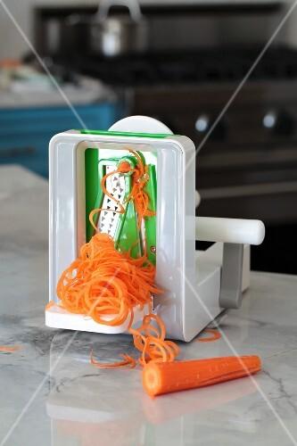 Carrot spiral being made