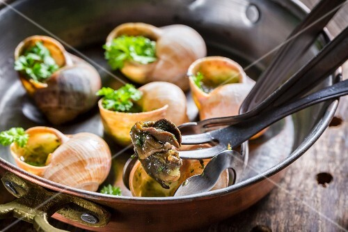 Snails with garlic butter and parsley