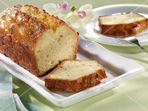 Madeira cake made with stevia