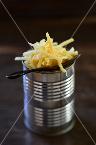 Bamboo shoots from a tin