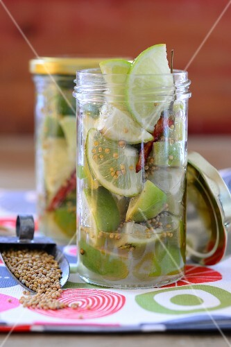 Preserved limes with ginger