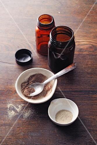 Homemade ginger stomach powder à la Hildegard von Bingen