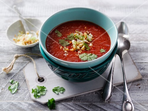 Tandoori pepper soup with moringa powder