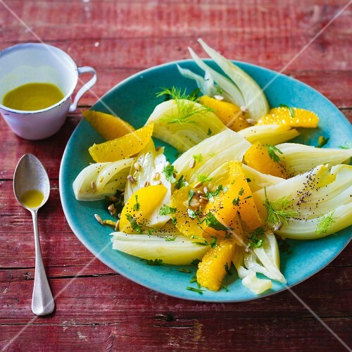 Fennel salad with oranges and coriander