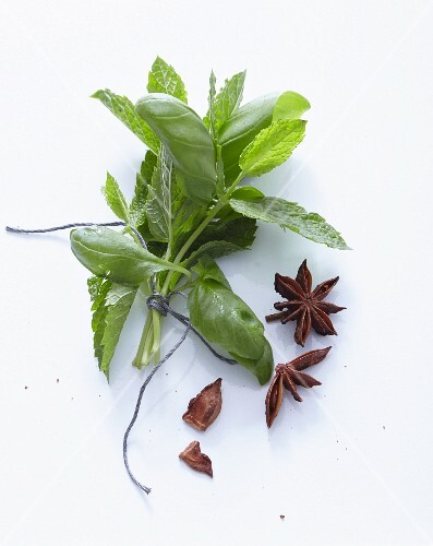 Basil, mint and star anise