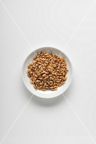 A bowl of caramel malt