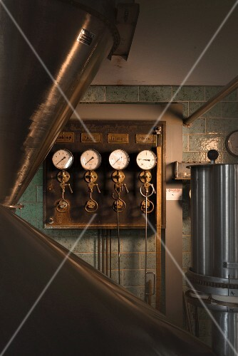 Brass instruments in a brewery