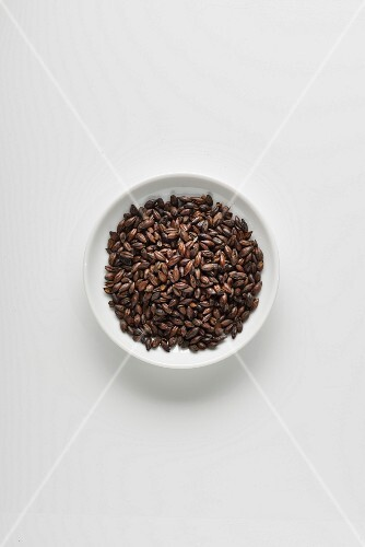 A bowl of roasted malt