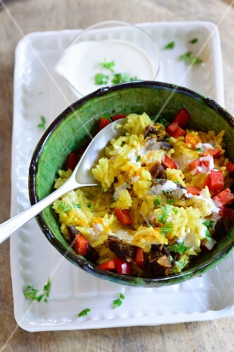 Date and rice salad with chillis