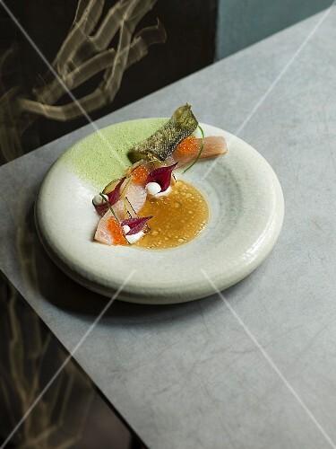 Elmstein trout by Dominik Hans, restaurant Urgestein, chef Benjamin Peifer